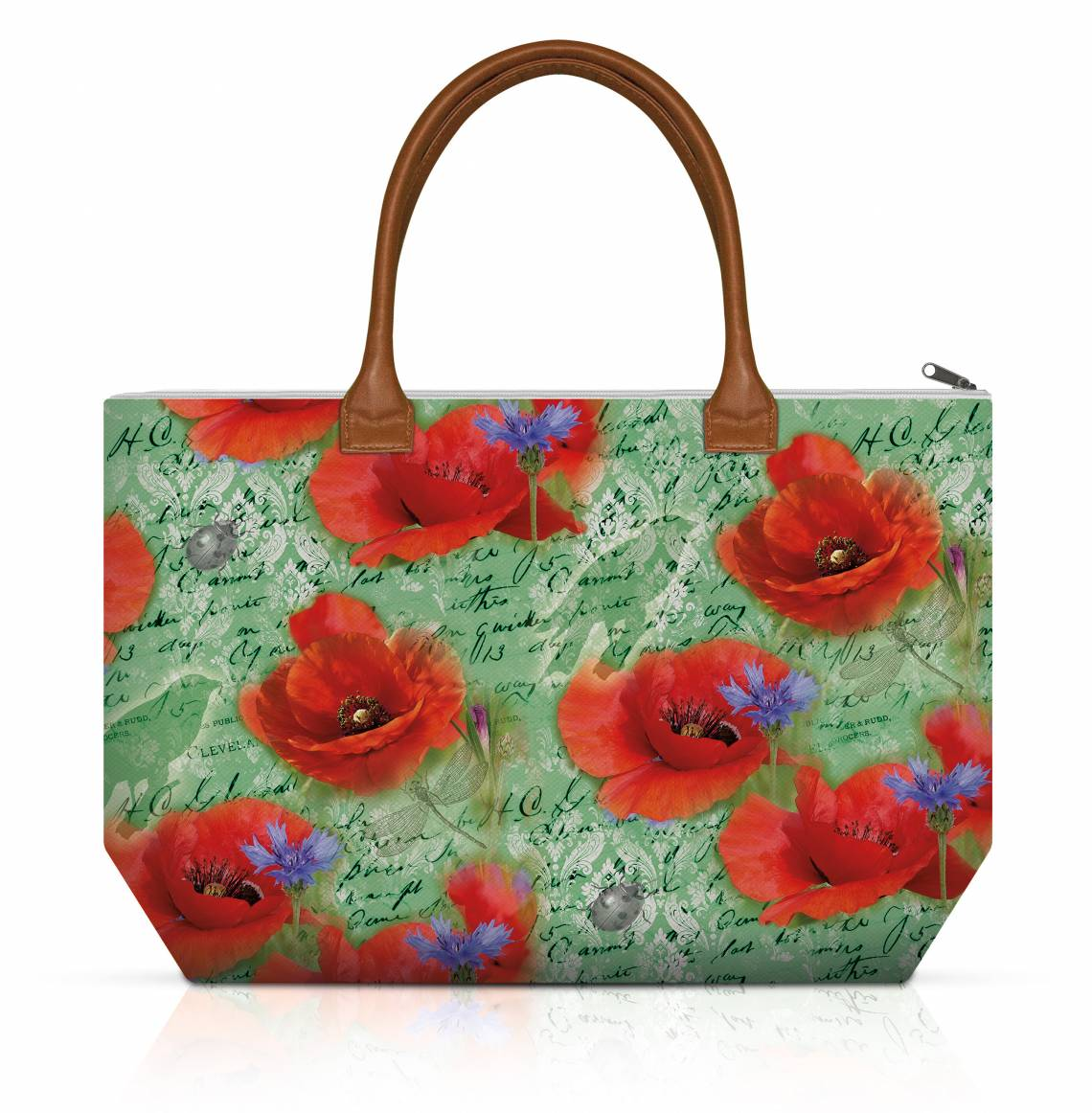 Ambiente: Painted Poppies Shopping Bag