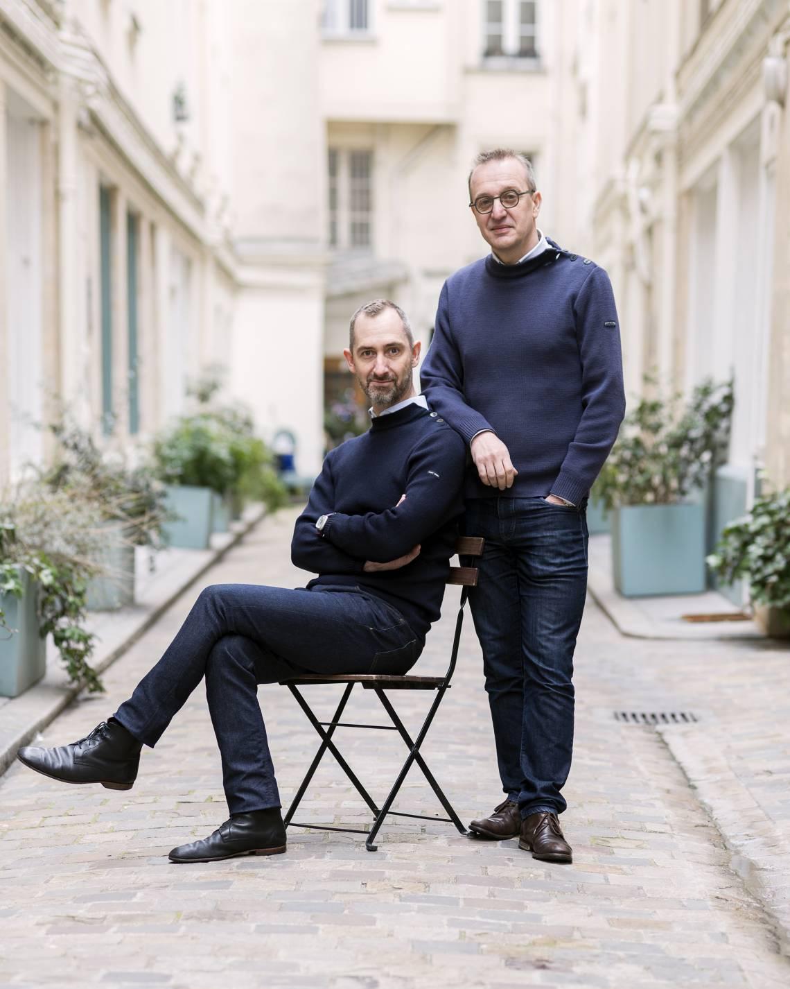 Luc Foin (rechts) und Stepahne Lebeau in Paris