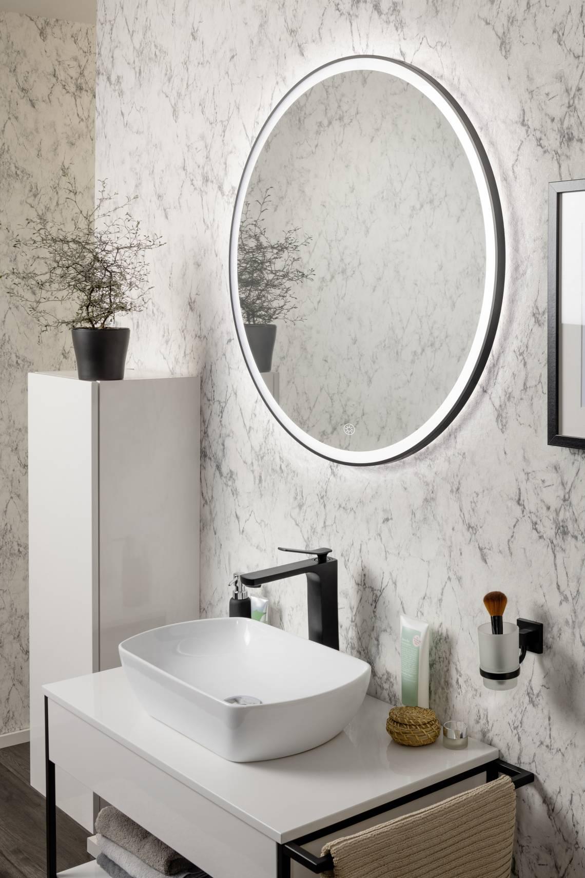 FACKELMANN NEW YORK Waschtisch mit Spiegel