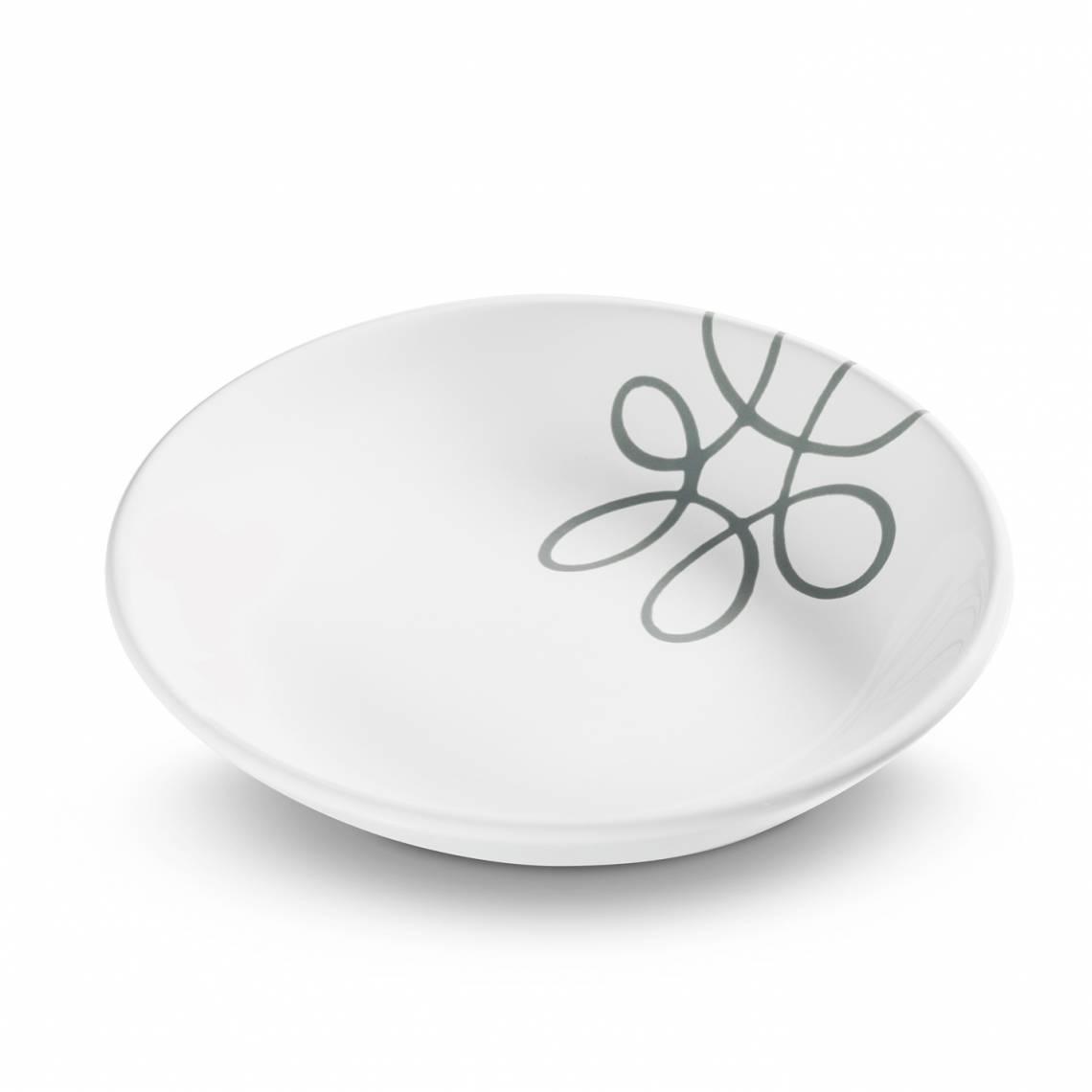 Gmundner Keramik: Graugeflammt und Pudertöne / Suppenteller /0111TSCU20