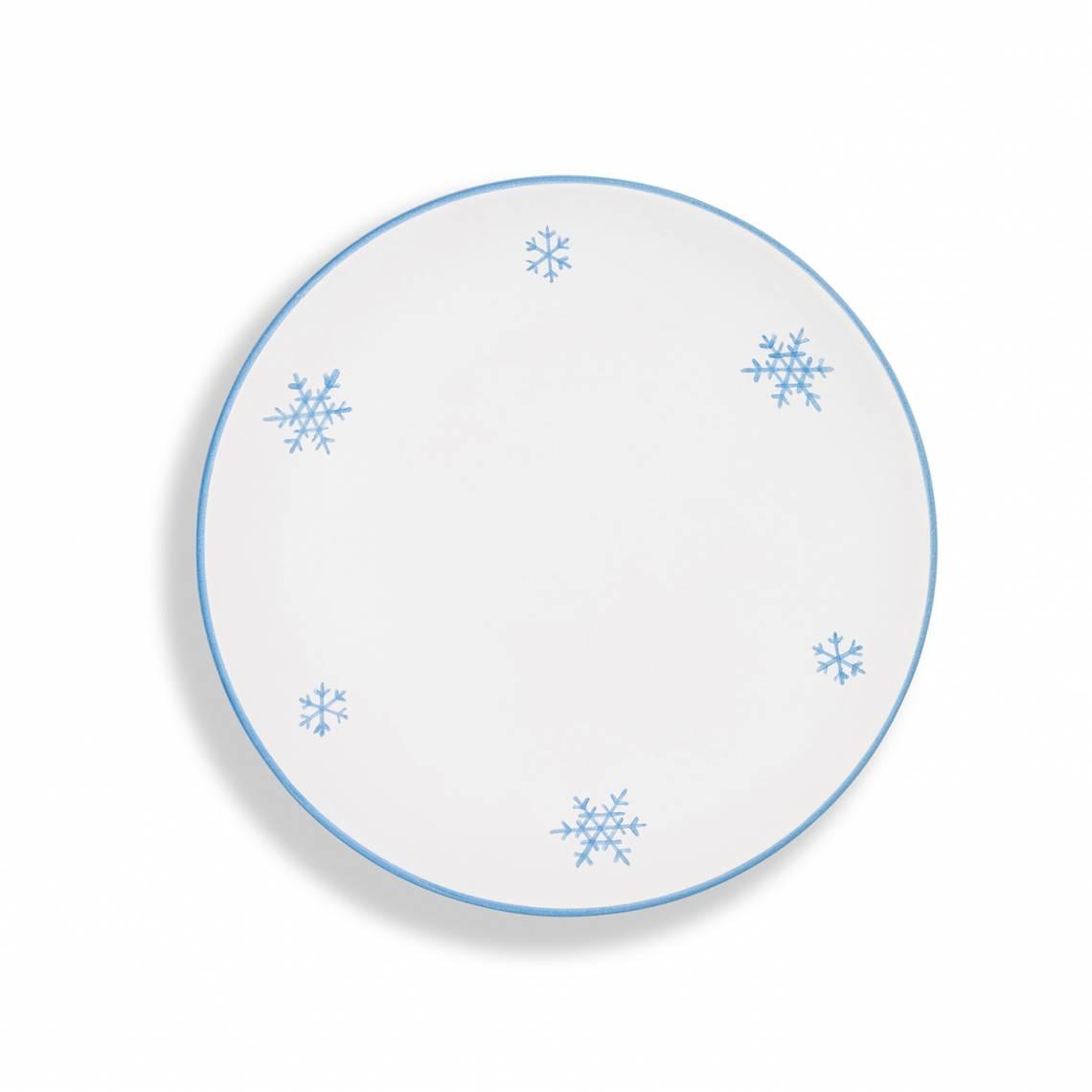Dessertteller Schneekristall Blau von Gmundner Keramik