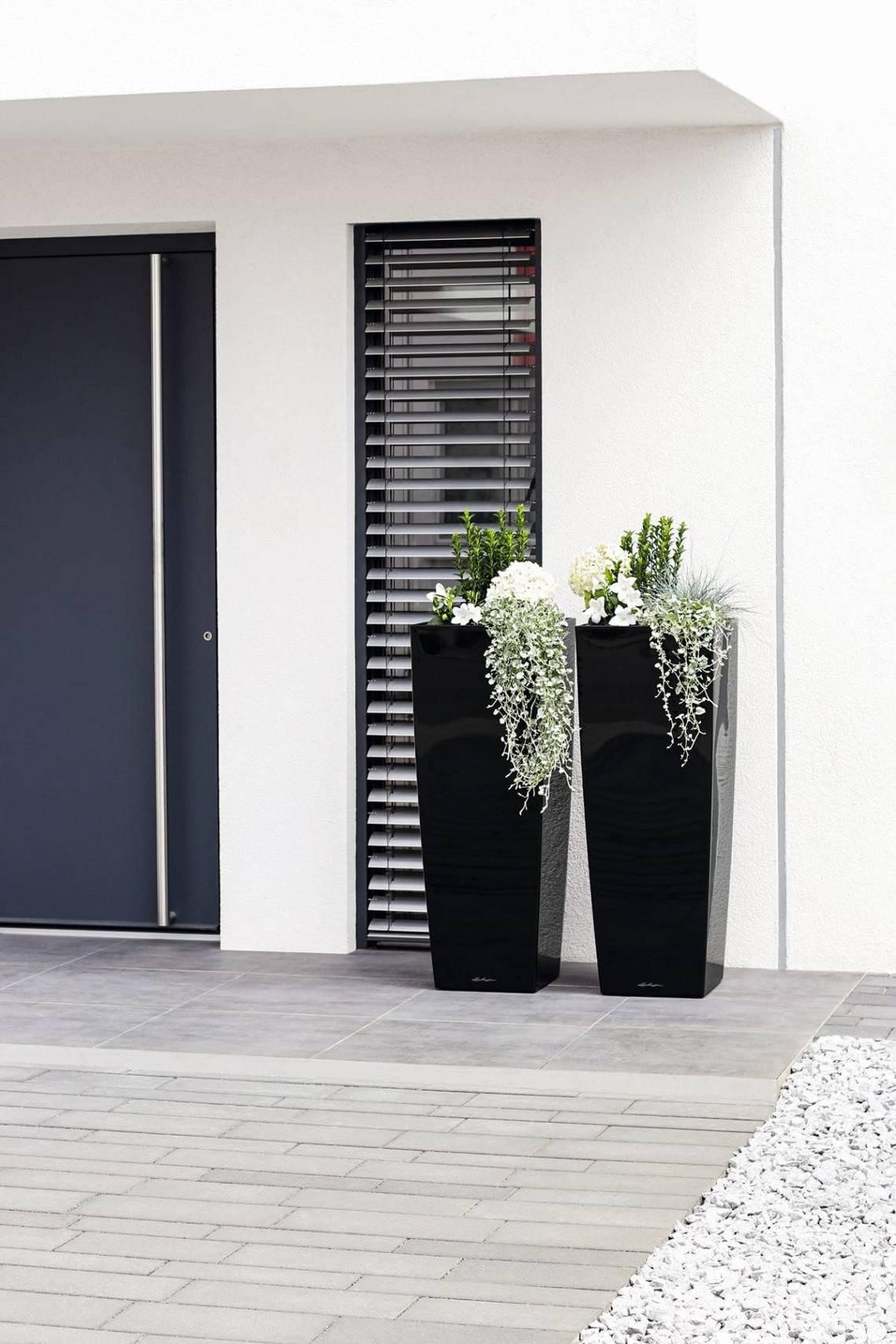 Black & White: Pflanzgefässe schwarz