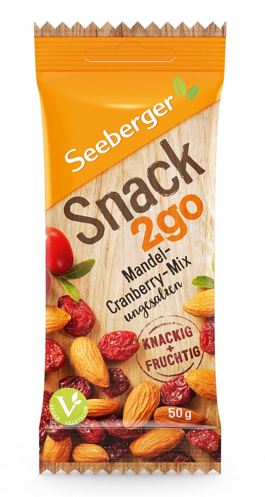 Seeberger: Snack2go / Mandel-Cranberry-Mix