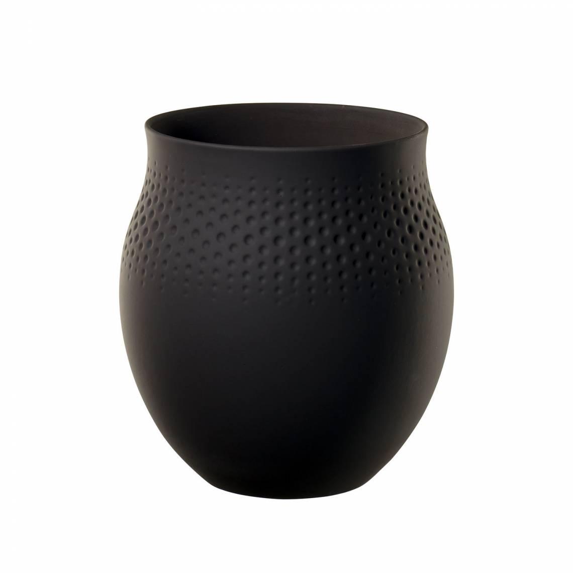 Villeroy & Boch: Manufacture Collier Vase schwarz 1016825511