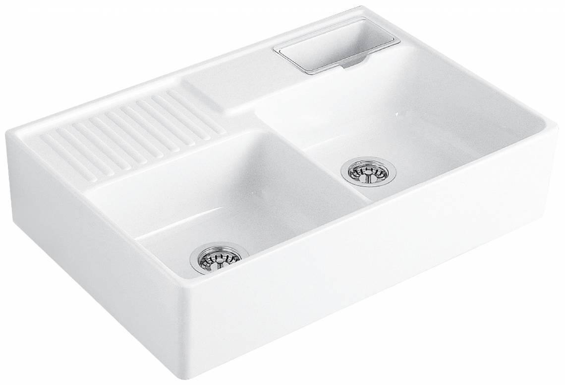 Villeroy & Boch Spülstein Doppelbecken weiß FS
