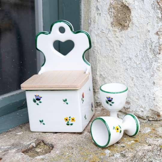 Gmundner Keramik -Streublumen-Salzfass-Eierbecher