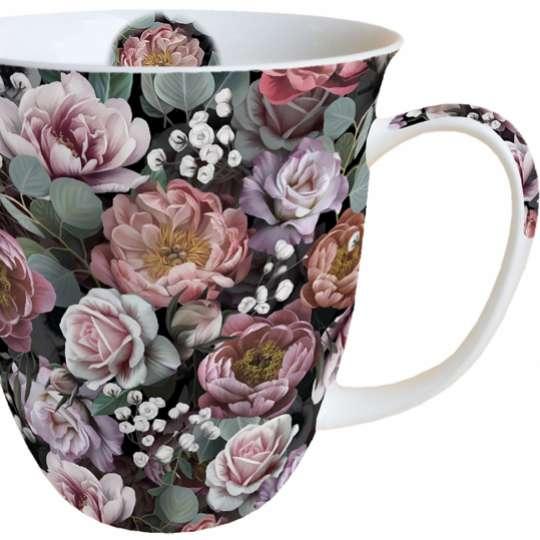 """Ambiente Europe:: Vintage Flowers"""" Henkelbecher"""
