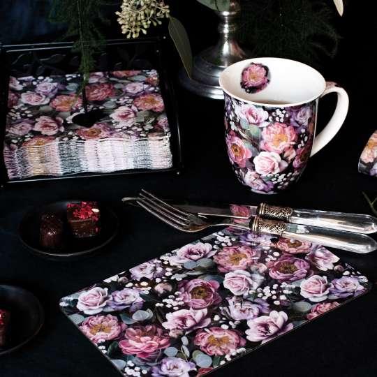Ambiente Europe:: Vintage Flowers Tisch Set mit Servietten