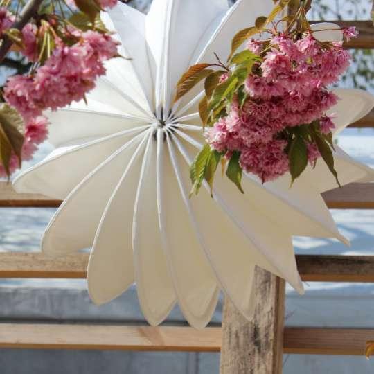 Zeit für Frühling bei Barlooon - Outdoor-Lampion weiss, M Mood 1