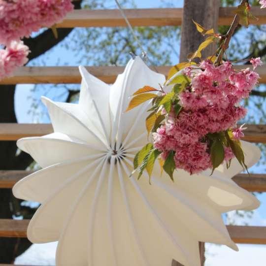 Zeit für Frühling bei barlooon - Outdoor-Lampion weiss, M Mood 2