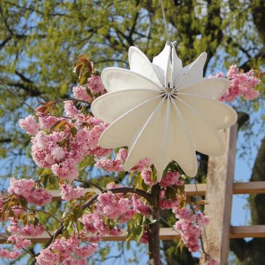 Zeit für Frühling - Outdoor-Lampion weiss, S Mood 1