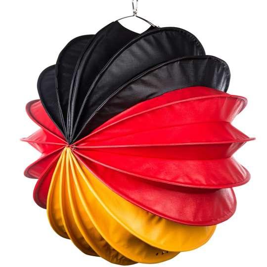 Barlooon: der wetterfeste Lampion in Groesse L, schwarz-rot-gelb