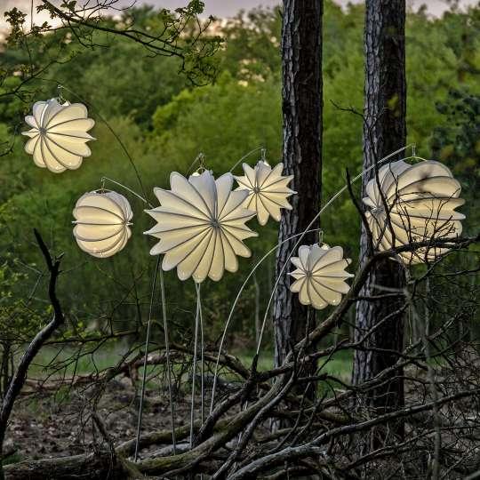 Barlooon - robuste Outdoor-Lampions, Mood Wald 2