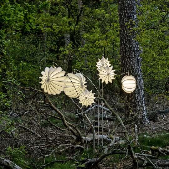 Barlooon - robuste Outdoor-Lampions, Mood Wald 3