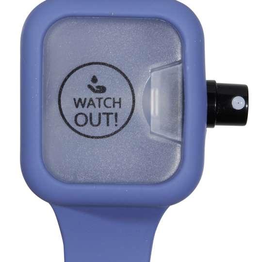 Watch Out! Desinfektionsarmband Blau
