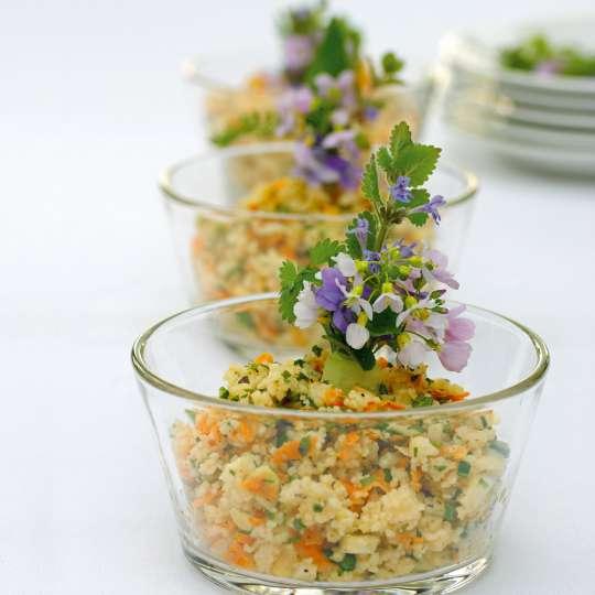 CousCous-Salat mit Wildkräutern