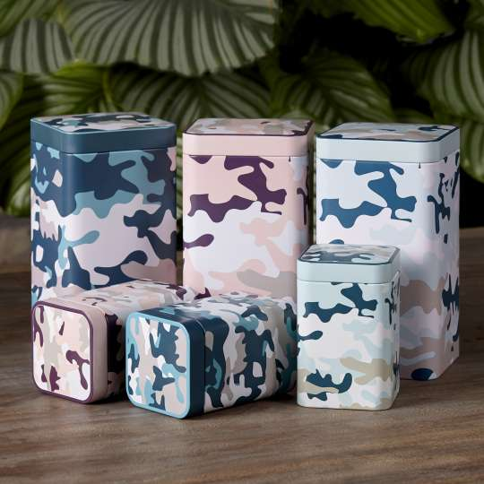 Eigenart CASE Camouflage Teedosen klein/gross