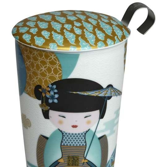 Eigenart 80044 TE NLG Petrol Porzellanbecher Geisha