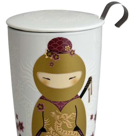 Eigenart Little Family TEAEVE Porzellanbecher Little Ninja Gold - 80011