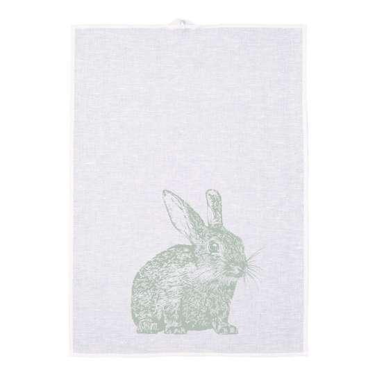 Frohstoff Geschirrtuch Halbleinen Kaninchen pastellgruen