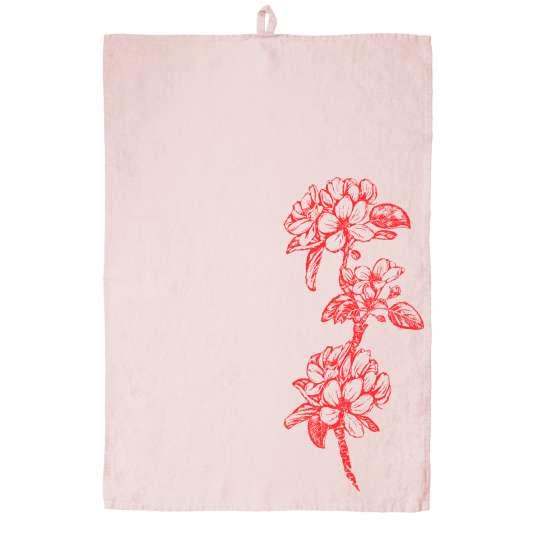 Frohstoff Geschirrtuch Leinen Apfelbluete pink