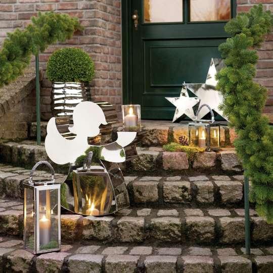 HOLYWORKER Kerzenhalter 75 cm  - Outdoordekoration mit Laterne und Sternen