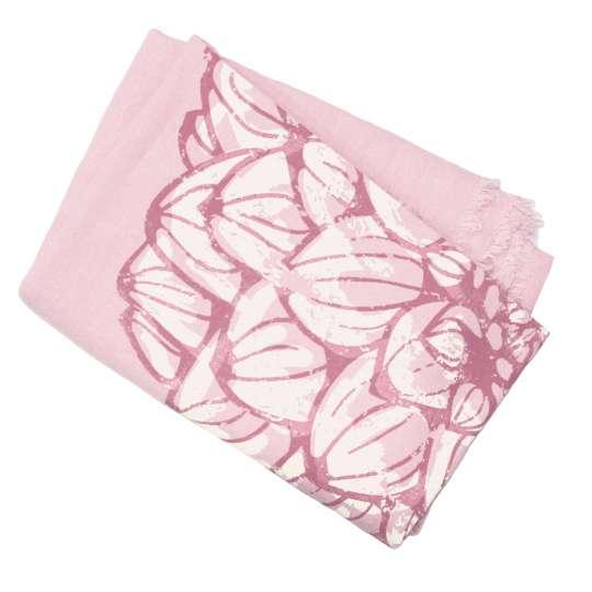 Frohstoff Plaid / Decke Dahlie Leinen Rose