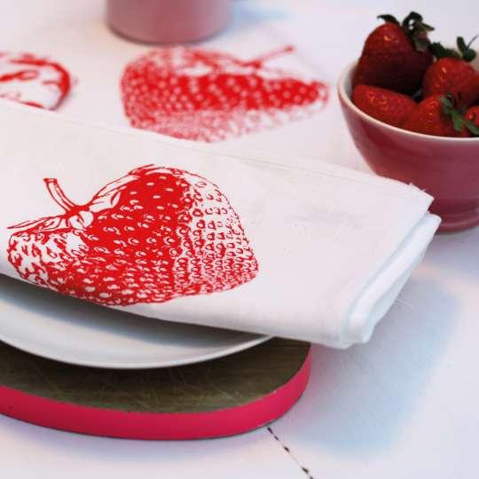 Frohstoff Serviette Erdbeere Mood