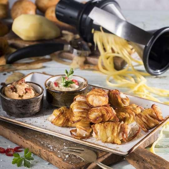 GEFU Kartoffel-Haehnchen- Knuspernuggets mit zweierlei Dips