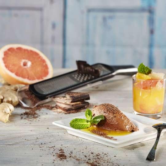 GEFU Ingwer-Schokoladenmousse mit Zitrusfruchtkompott querformat 1