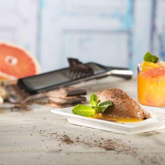 GEFU Ingwer-Schokoladenmousse mit Zitrusfruchtkompott querformat 2