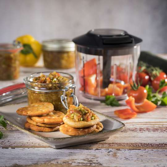 Rezept GEFU - pikantes Mittelmeer-Chutney