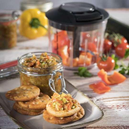 Rezept GEFU - pikantes Mittelmeer-Chutney - hoch