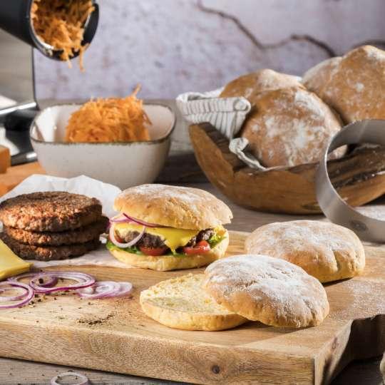 Rezept GEFU - Süßkartoffel-Burger-Buns