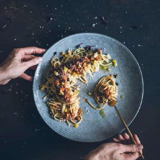 Herbstrezept - Vegetarische Linsen-Bolognese