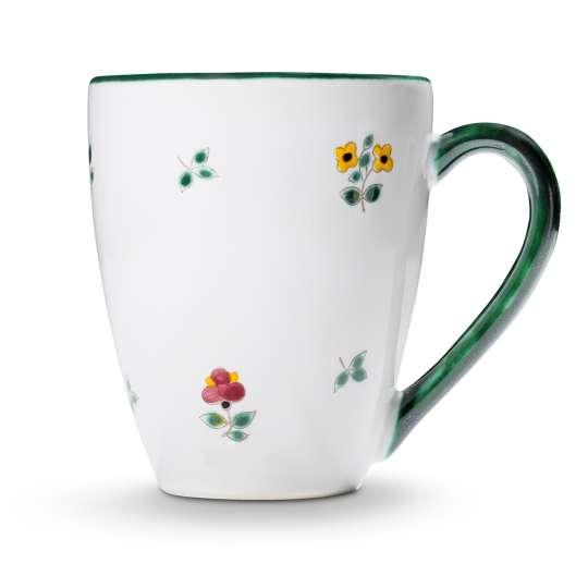 Gmundner Keramik:  Liebevolle Unikate mit Streublumendekor, Fruehstuecksbecher Max 0321TAFR09