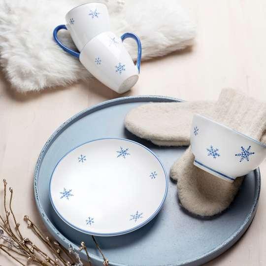 Weihnachtsdesign Schneekristall von Gmundner Keramik