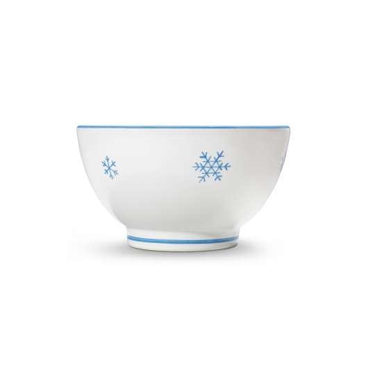 Mueslischale Schneekristall Blau von Gmundner Keramik