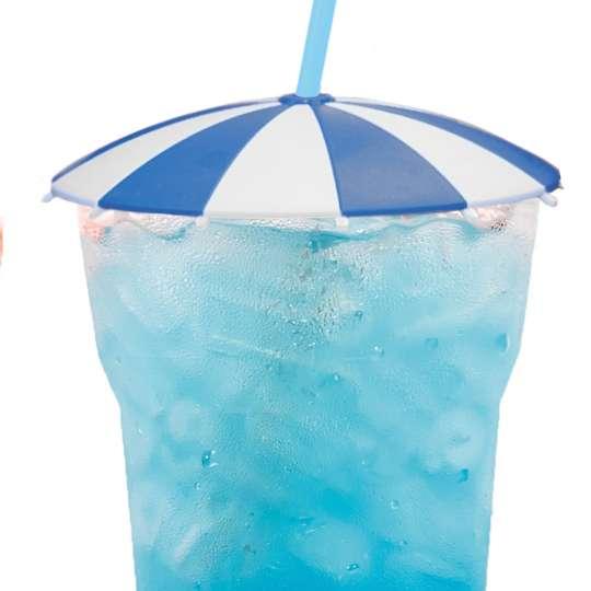 homiez Glasabdeckung SCHIRMCHEN blau mit Glas