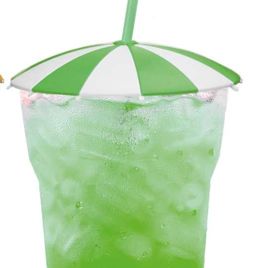homiez Glasabdeckung SCHIRMCHEN grün mit Glas