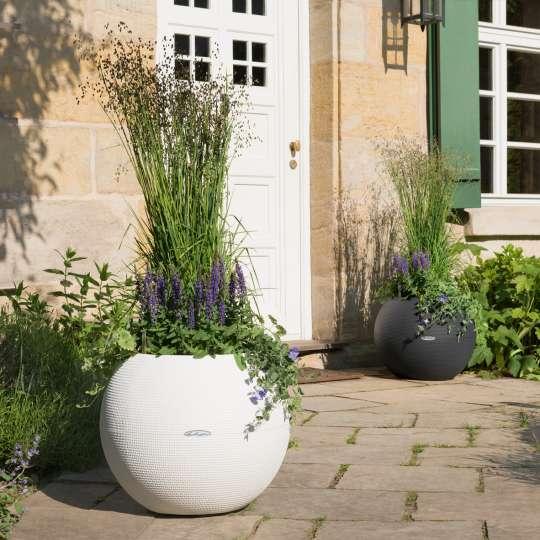 Blumenkübel PURO mit Pflanzen