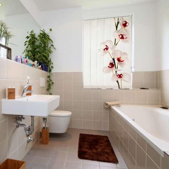 Lamellenvorhang für das Badezimmer