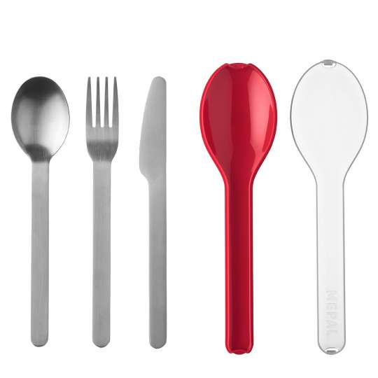 Mepal - Meal-Prep - Ellipse Besteckset, 3-teilig - Nordic Red