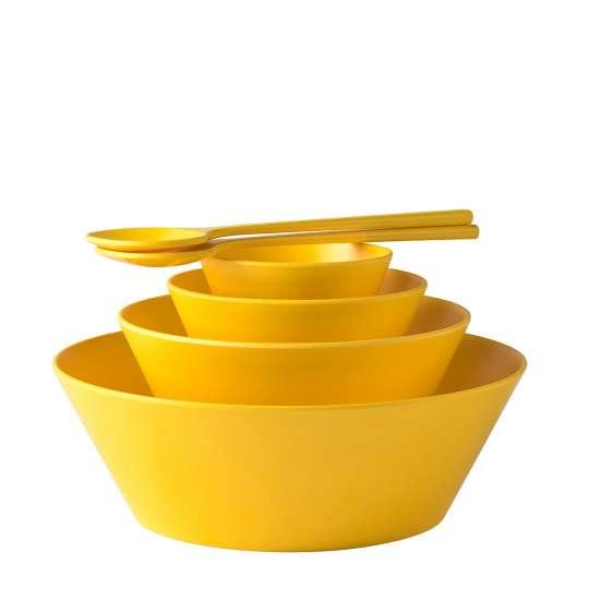 Mepal - Melamin Geschirrserie Bloom - Schalen Pebble Yellow