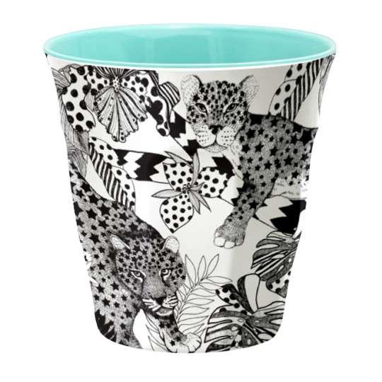 Mila Leopard Becher