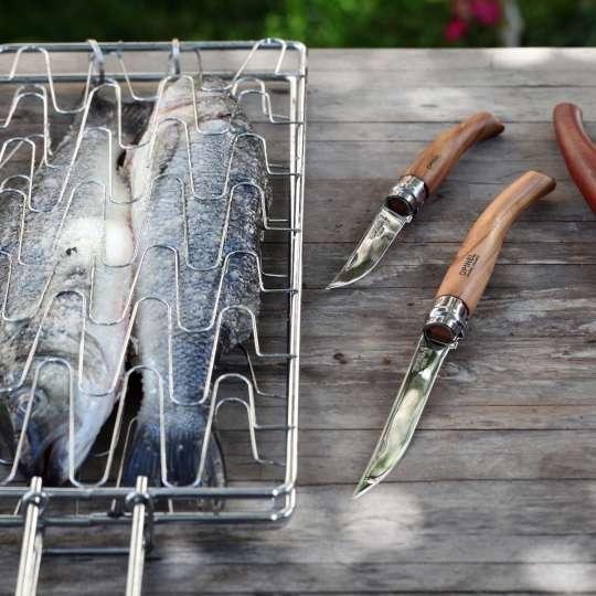 Fische mit zwei Slim-Line Messer