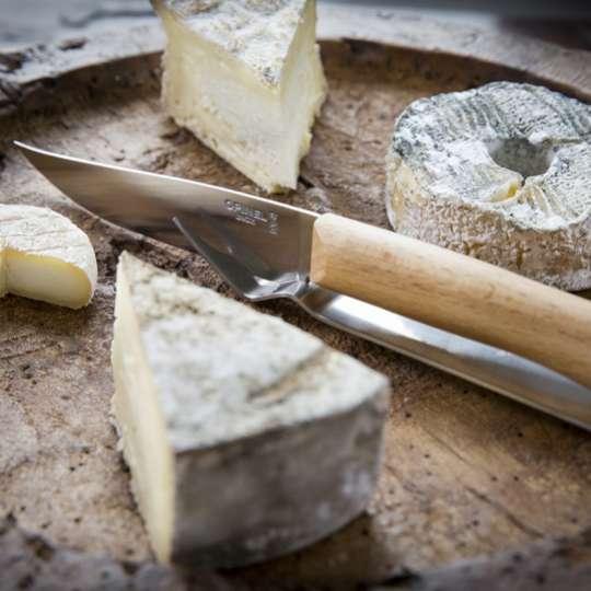 Highlight auf jeder Käseplatte -Opinel Messer Set mit Gabel als Ablage