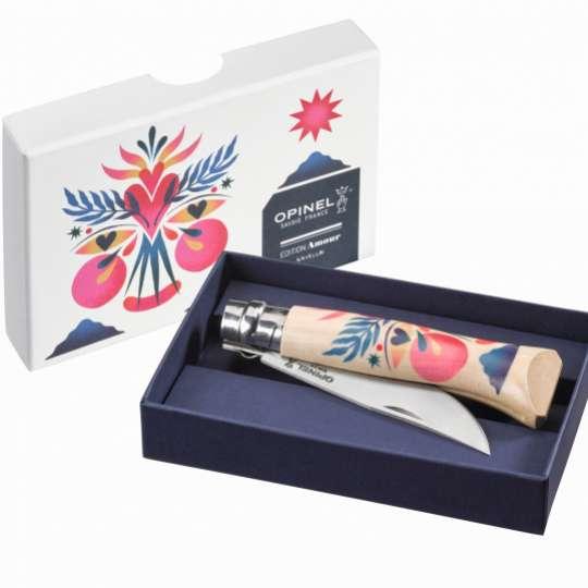 Opinel-Messer mit ganz viel Liebe: Serie Edition Amour / Design Kruella d'Enfer / Messer in Verpackung