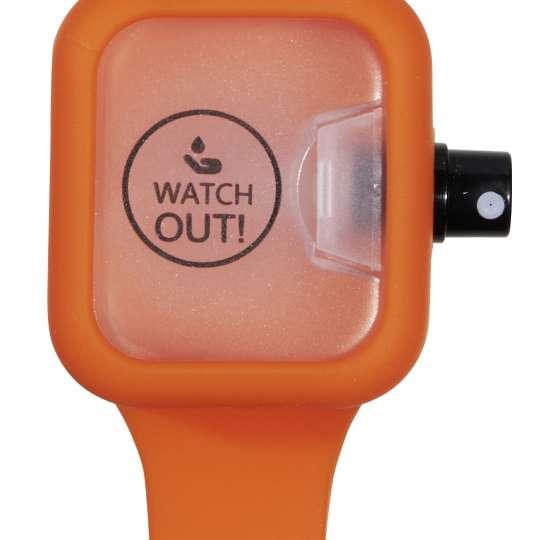 Watch Out! Desinfektionsarmband Orange