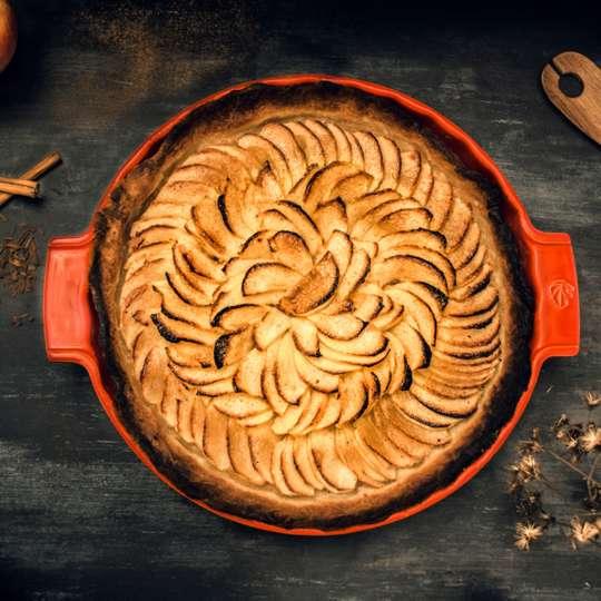 Leichter Apfelkuchen mit frischem Zimt